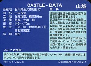 朝日山城 いしかわ城郭カード