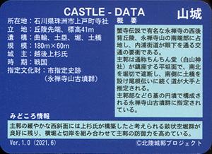 萩城 いしかわ城郭カード