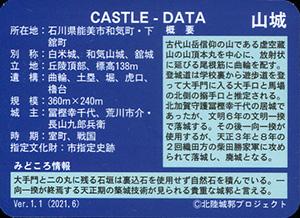 虚空蔵山城 Ver.1.1 いしかわ城郭カード