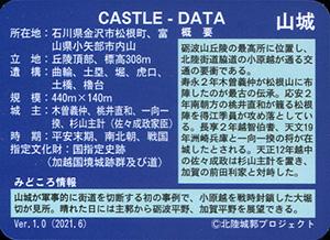 松根城 いしかわ城郭カード