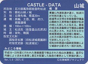 松波城 いしかわ城郭カード