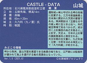 立壁城 いしかわ城郭カード