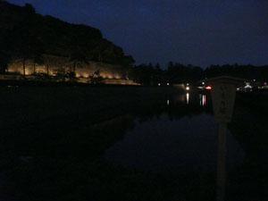 金沢城いもり堀 ライトアップ