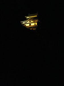松江城の夜景