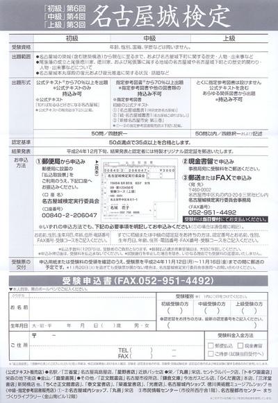 平成24年度名古屋城検定