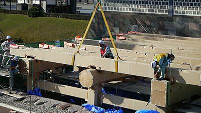 橋爪門復元工事